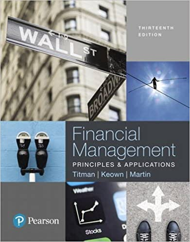 Test bank for Financial Management Principles and Applications 13th Edition by Sheridan Titman