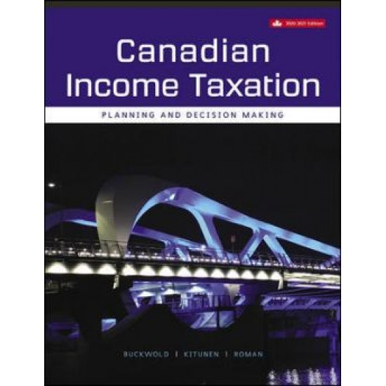 Solution manual for Canadian Income Taxation 2020-2021 23rd Canadian Edition by Bill Buckwold