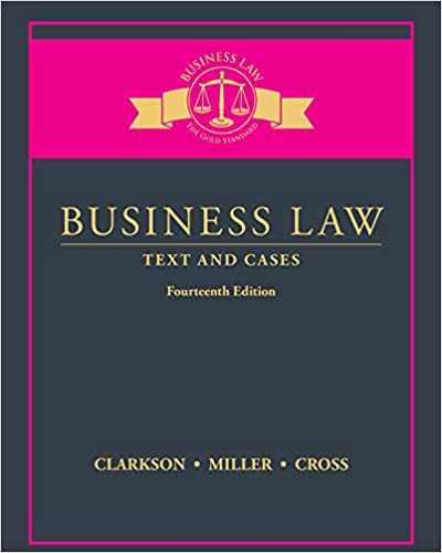 Test bank for Business Law: Text and Cases 14 Edition by Kenneth W. Clarkson的图片 1