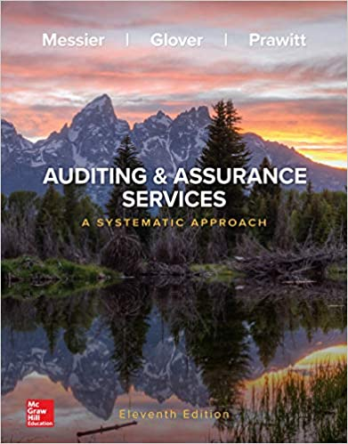 Solution manual for Auditing & Assurance Services: A Systematic Approach 11th Edition by William Messier Jr