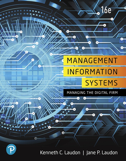 Test bank for Management Information Systems: Managing the Digital Firm 16th Edition by Kenneth C. Laudon的图片 1