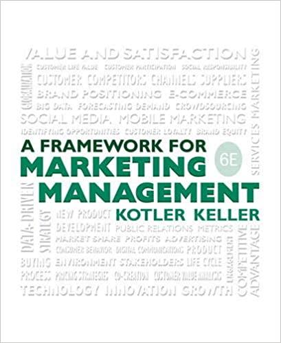 Test bank for Framework for Marketing Management 6th Edition by Philip Kotler的图片 1
