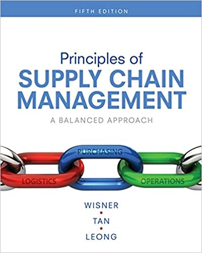 Test bank for Principles of Supply Chain Management: A Balanced Approach 5th Edition by Joel D. Wisner