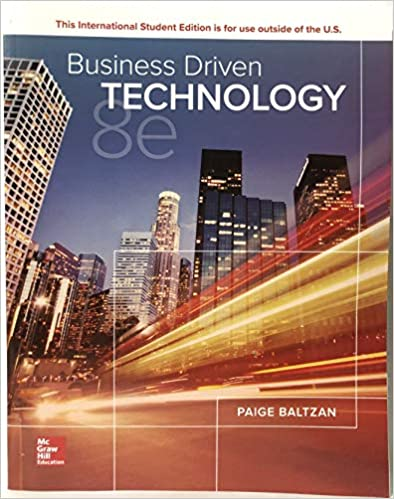 Solution manual for Business Driven Technology 8th edition by Paige Baltzan的图片 1