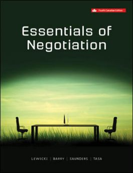 Test bank for Essentials Of Negotiation 4th Canadian Edition by Roy J. Lewicki