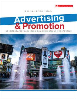 Test bank for Advertising & Promotion 7th Canadian Edition by Michael Guolla