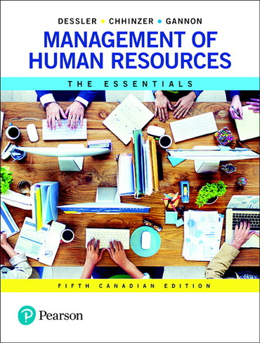 Test bank for Management of Human Resources: The Essentials 5th Canadian Edition by Gary Dessler的图片 1