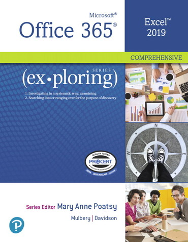 Test bank for Exploring Microsoft Office Excel 2019 Comprehensive 1st edition by Jason Davidson的图片 1
