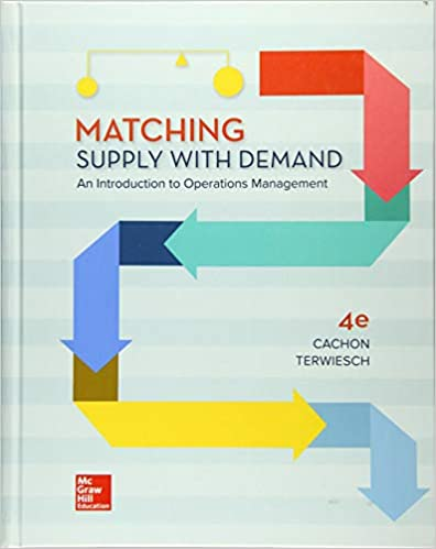 Solution manual for Matching Supply with Demand: An Introduction to Operations Management 4th Edition by Gerard Cachon