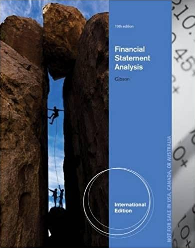 Test bank for Financial Statement Analysis 13th edition by Charles H. Gibson