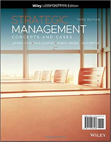 Test bank for Strategic Management: Concepts and Cases 3rd Edition by Jeffrey H. Dyer