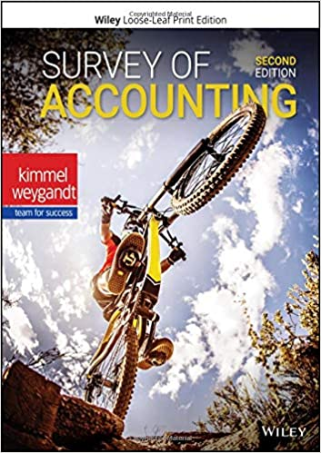 Test bank for Survey of Accounting 2nd Edition by Paul D. Kimmel