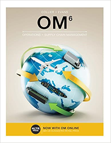 Test bank for OM 6th Edition by David A. Collier