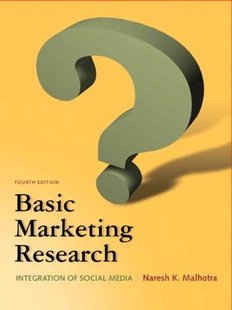 Test bank for Basic Marketing Research 4th Edition by Naresh Malhotra