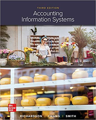 Solution manual for Accounting Information Systems 3rd Edition by Vernon Richardson