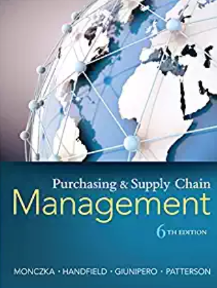 Test bank for Purchasing and Supply Chain Management 6th Edition by Robert M. Monczka的图片 1