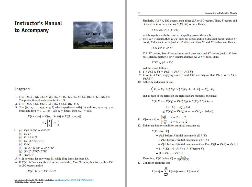 Solution manual for Introduction to Probability Models 11th Edition by Sheldon M. Ross的图片 2