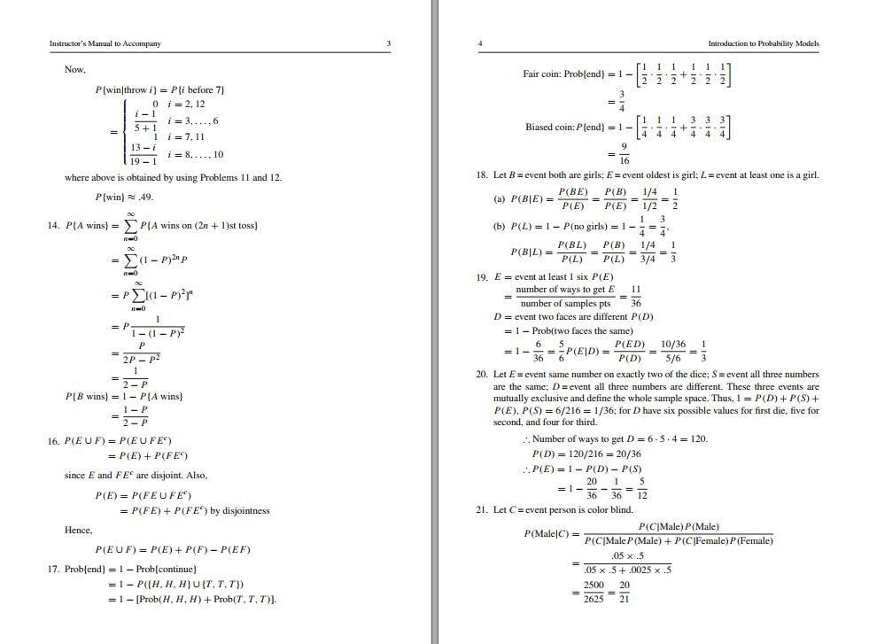 Solution manual for Introduction to Probability Models 11th Edition by Sheldon M. Ross的图片 3