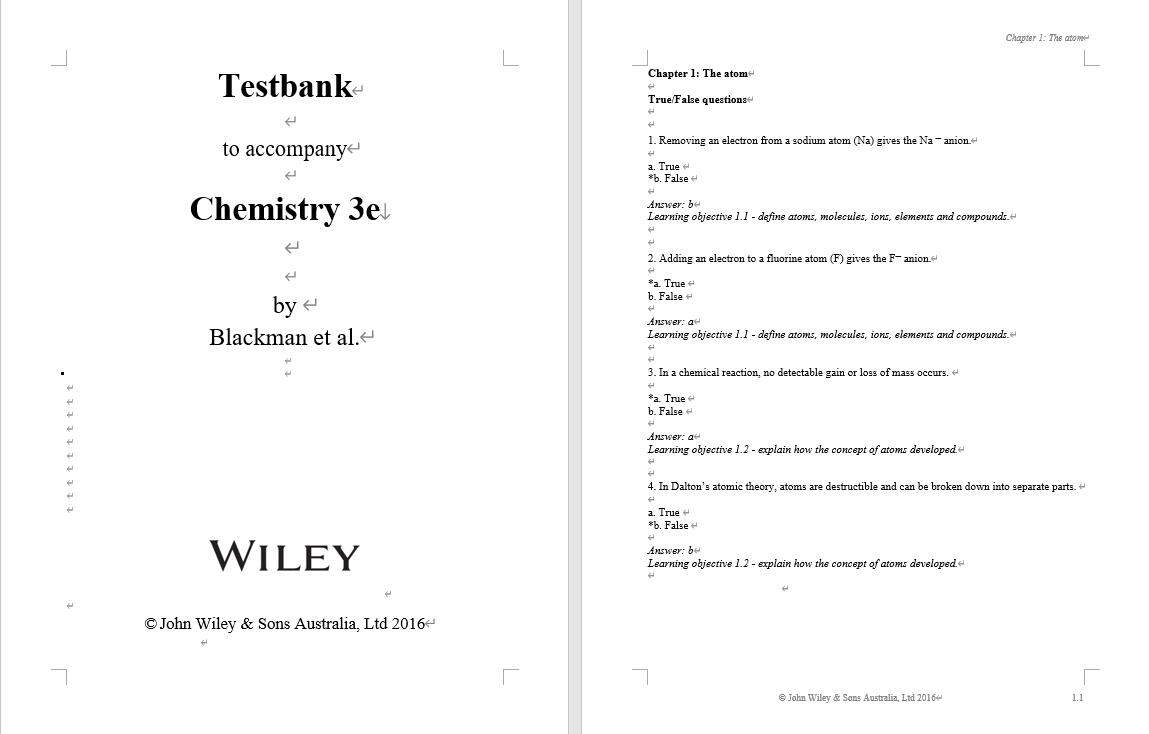 Test bank for Chemistry 3rd Edition by Allan Blackman的图片 3
