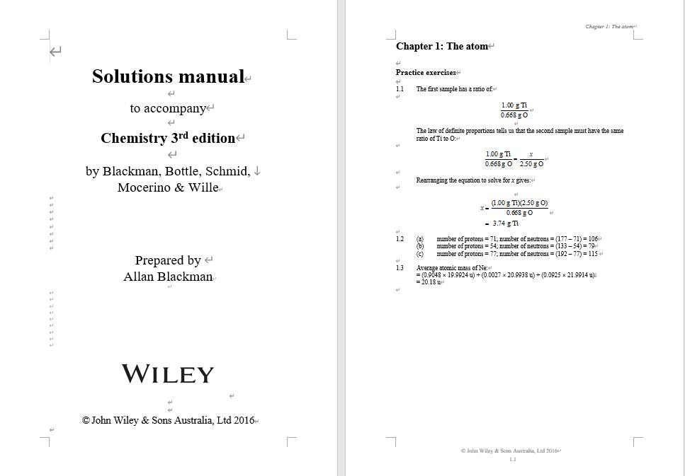 Solution manual for Chemistry 3rd Edition by Allan Blackman的图片 3