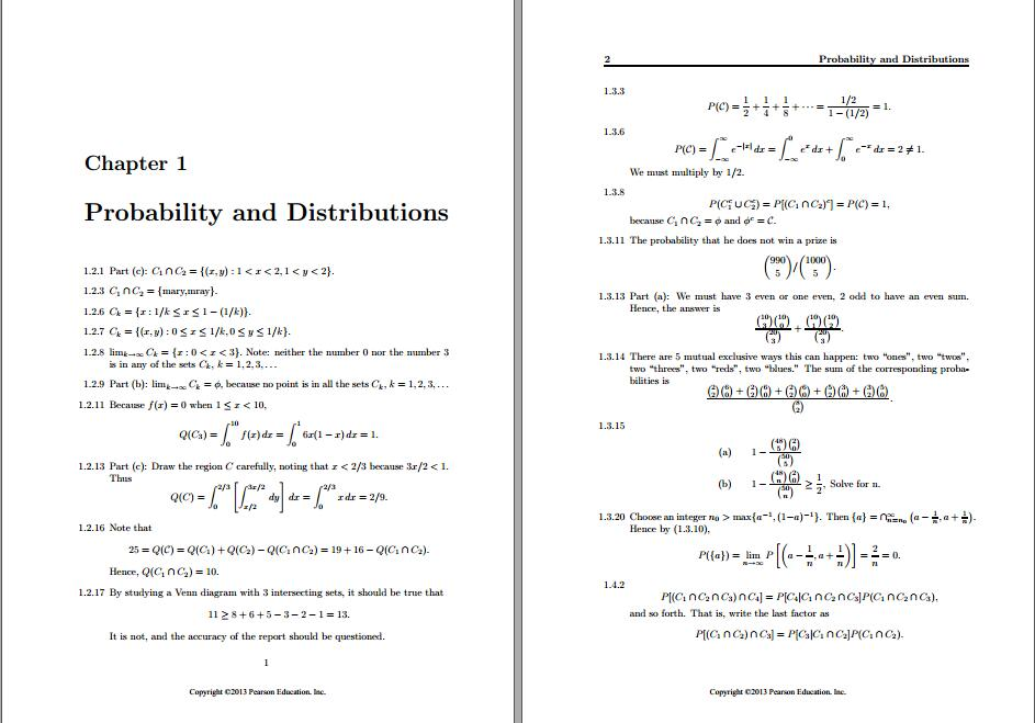 Solution manual for Introduction to Mathematical Statistics 7th Edition by Robert Hogg的图片 3