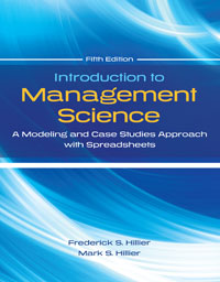Solution manual for Introduction to Management Science: A Modeling and Case Studies Approach with Spreadsheets 5th Edition by Frederick S Hillier的图片 1