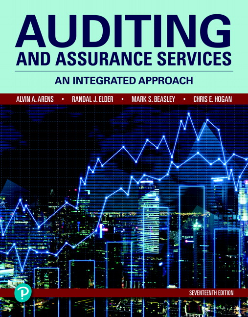 Test bank for Auditing and Assurance Services 17th Edition by Alvin A Arens