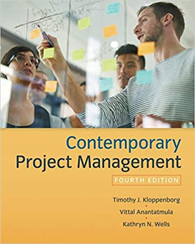 Instructor Resource Manual for Contemporary Project Management 4th Edition by Timothy Kloppenborg的图片 1