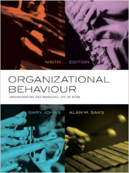 Test bank for Organizational Behaviour Understanding and Managing Life at Work 9th edition by Gary Johns