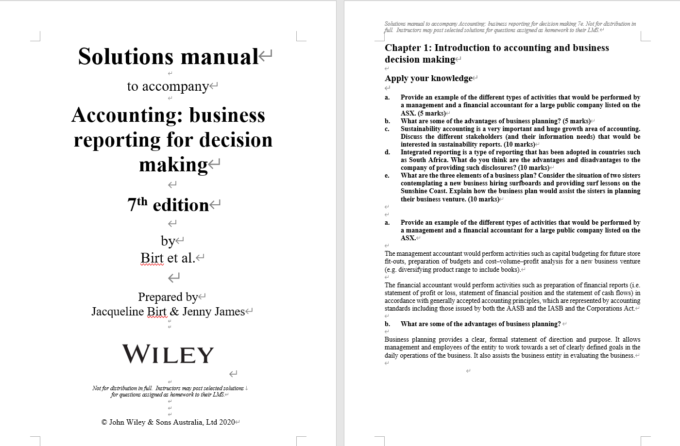 Solution manual for Accounting: Business Reporting for Decision Making 7th Edition by Jacqueline Birt的图片 3