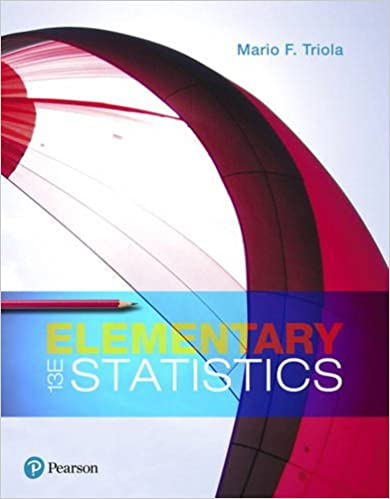 Solution manual for Elementary Statistics 13th Edition by Mario Triola
