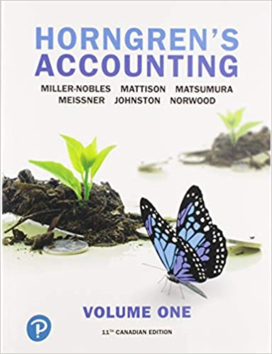 Solution manual for Horngren's Accounting, Volume 1, 11th Canadian Edition by Tracie Miller-Nobles