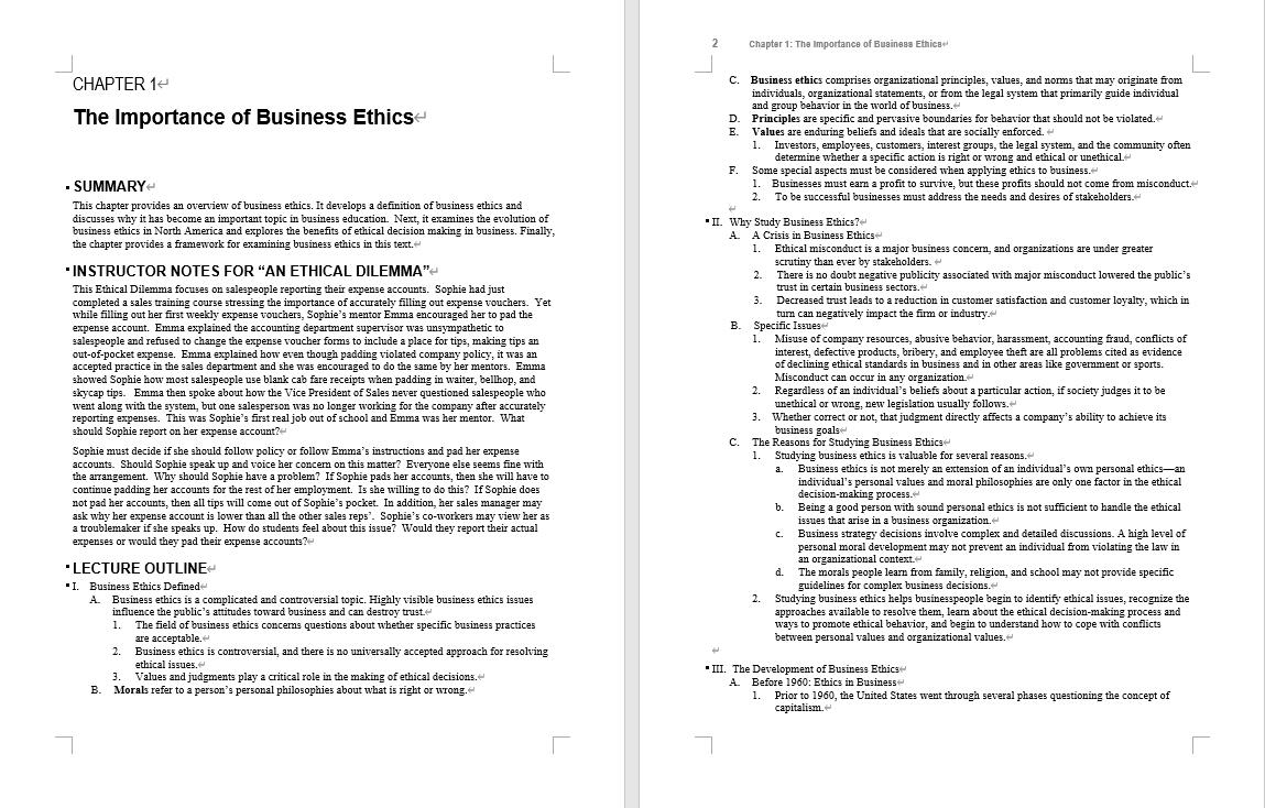 Instructor manual for Business Ethics: Ethical Decision Making & Cases 11th Edition by O. C. Ferrell的图片 3