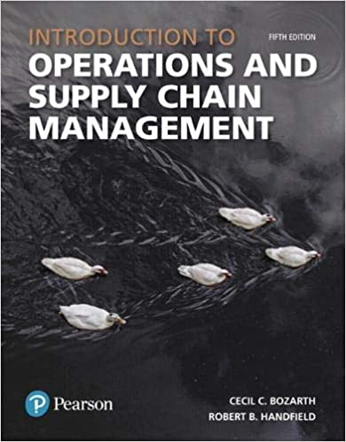Test bank for Introduction to Operations and Supply Chain Management 5th Edition by Cecil B. Bozarth