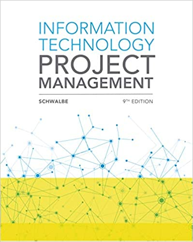 test bank for Information Technology Project Management 9th Edition by Kathy Schwalbe