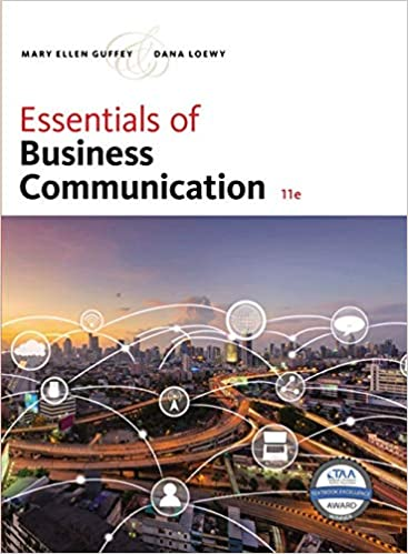 Solution manual for Essentials of Business Communication 11th Edition by Mary Ellen Guffey