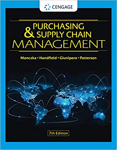 Test bank for Purchasing & Supply Chain Management 7th Edition by Robert M. Monczka