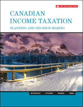 Solution manual for Canadian Income Taxation 2021/2022 24th Edition by William Buckwold