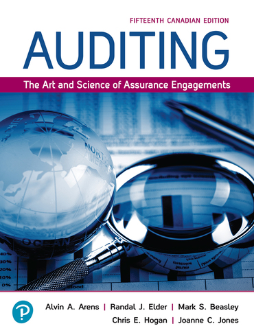 Test bank for Auditing: The Art and Science of Assurance Engagements 15th Canadian Edition by Alvin A Arens