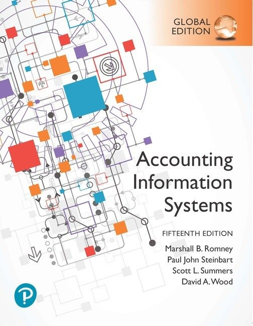 Test bank for Accounting Information Systems 15th Global Edition by Marshall B. Romney
