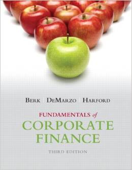Test bank for Fundamentals of Corporate Finance 3rd Edition by Jonathan Berk